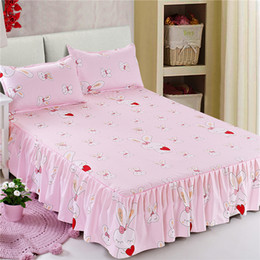 $enCountryForm.capitalKeyWord Canada - Summer mattress pure color bed skirt has 4 elastic belts fixed anti slip bedclothes bedsheets 1.5m 1.8m meters beds are availab