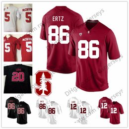 bca4761fa Stanford Cardinal College Football  86 Zach Ertz 12 Andrew Luck 20 Bryce  Love 5 Christian McCaffrey Black Red White Stitched Jersey S-3XL