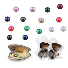 $enCountryForm.capitalKeyWord Australia - Round 7-8mm 27 color Promiton gift natural pearl in Akoya freshwater oyster shell mussel farm supply cultured beads for jewelry