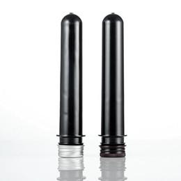 Discount bottles test tube - 50ml Black Color Mask Bath Salt Test PET Tube With Aluminum Cap 50cc Plastic Cosmetic Tube Container Bottle QW7125