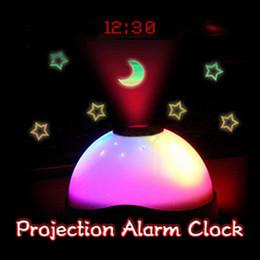 magic clock 2019 - New 7 Colors LED Projection Alarm Clock Time Starry Star Sky Digital clock LED Projection Alarm Color Changing Magic Nig