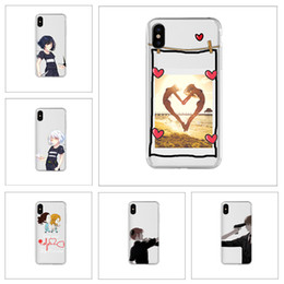 $enCountryForm.capitalKeyWord Canada - [TongTrade] For iPhone X 8 7 6s 5s Plus Case Cover Love Cartoon Sweethearts Silicone TPU Coloured Painting Galaxy S9 S8 S7 S6 Edge Plus Case