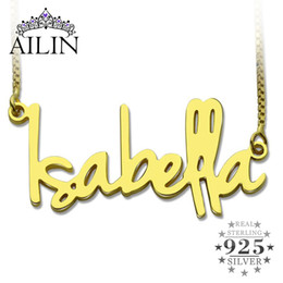 Necklaces Pendants Australia - Wholesale Gold Color Personalized Name Necklace Tiny Nameplate Retro Style Custom Name Pendant Valentine's Day Jewelry D18111201