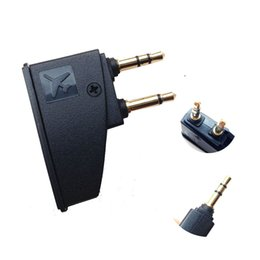 Chinese  Headphone Airline Adapter Connector 3.5mm to 2 x 3.5 mm Stereo Ear Headset Headphone Audio Adapter Connector Jack Aircraft Airplane manufacturers
