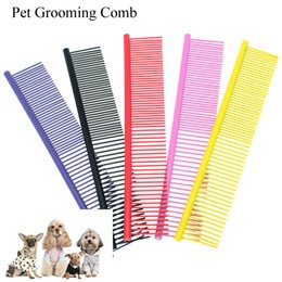 pink dog brush NZ - Meisha Hot Sale Dog Hair Grooming Comb Stainless Steel Thick Grooming Comb Brush for Shaggy Cats Dogs Pet Cleaning Hair Fur Supplies LZN0016