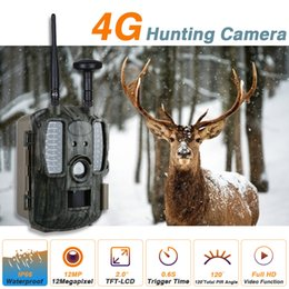 Gsm Motion Alarm Australia - Full 1080P Video Recorder Night Visible Support Android IOS Apps 4G GSM Hunting Camera Infrared Motion Detector Intruder alarm