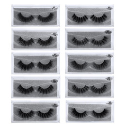 transparent strip false eyelashes NZ - JIEFUXIN Mink Eyelashes Invisible Band Lashes Natural 3D Mink False Eyelash Full Strip Transparent band lashes cilios posticos