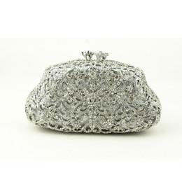 52835ee3c580 Famous Designer White Silver Clutch Evening Bag for Ladies Bridal Handbags  Wedding Crystal Clutch Evening Bags for Sale Online
