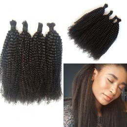 $enCountryForm.capitalKeyWord Australia - Cheap 4bundles Brazilian Hair Bulk Braiding Kinky Straight No Weft Natural Color 100% Human Hair Extensions LaurieJ Hair
