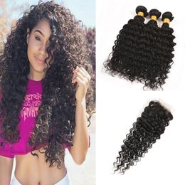 $enCountryForm.capitalKeyWord Australia - Deep Wave Brazilian Hair Bundles With Closure Deep Wave Virgin Hair Bundles Deals With Frontal Cheapest Hair Bundles With Closure