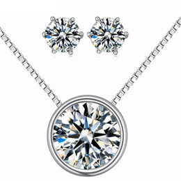 2965e822b Swarovski Crystal Stud Earrings Canada - High Quality Crystals From Swarovski  Elements Round Pendant Necklace Stud