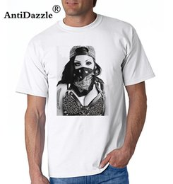 eye print fashion NZ - Antidazzle 2017 Real Fashion Cotton Knitted Print Awesome Shirts O-neck Short Sleeve Gangsta Girl With Panther Eyes T For Men