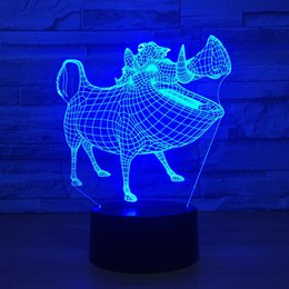 Batteries Usb Mouse Canada - Pig 3D Optical Illusion Lamp Night Light DC 5V USB Powered AA Battery Wholesale Dropshipping Free Shippin
