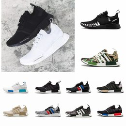 78b7d4f0187e2 2018 NMD R1 Oreo Runner Japan Nbhd Primeknit OG Triple Black White Camo  Running Shoes Men Women Nmds Runners Xr1 Sports Trainers Size 5-11