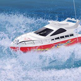Venta al por mayor de Alta velocidad RC Barco Super Mini Performance Barcos de control remoto Barco eléctrico de juguete para niños Niños Regalo de cumpleaños Juguetes para niños
