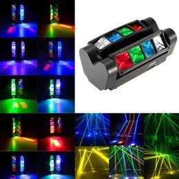 90W LED DMX512 Mini Spider Stage Beam Light Sonido Activado Auto 7/13 Canales RGBW Etapa Lámpara de efecto para Disco KTV Club Party en venta