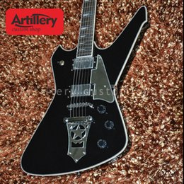 Guitar Custom Shop Black NZ - Free shipping factory custom kiss paul stanley black star tremolo electric guitar with rosewood fingerboard musical instrument shop