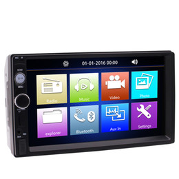 car mp5 audio player NZ - Eincar Universal 7'' TouchScreen Double 2 Din HD Car Radio MP5 Player In-Dash Bluetooth Audio Receiver Multi Button Colors FM USB TF AUX