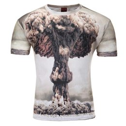 33e2e6355258 Wholesale- 2016 Summer Style Animal Creative T-Shirt Lightning Cats Pizza  Cats Clown water droplets Mushroom cloud 3d printed T Shirt M-4XL