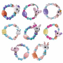 Diy Boys Toys UK - Hot Sale Deformed Animal Bracelet Kids Toys For Boy Girls Cute Magic Twisted Bracelet Diy Cartoon Toy Bracelet For Girls Boy Gift D0697
