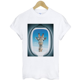 $enCountryForm.capitalKeyWord UK - Airplane Window-Giraffe funny humor art pop hipster party gift white t-shirt Cool xxxtentacion tshirt Brand shirts jeans Print