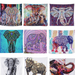 ElEphant dEcorations homE online shopping - Digital Printing Beach Picnic Rug Blanket Wall Tapestry Hanging Towel Indian Bohemia Mat Elephant Series Home Decoration lk bb