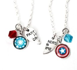 Marvel pendants online shopping - 6pair Steve Tony BFF Necklace Set Marvel Steve Rogers Tony Stark Captain America Iron Man Stony Friendship necklace