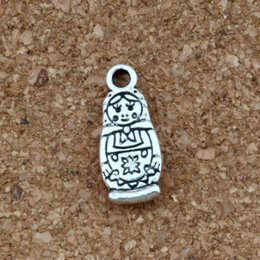 russian jewelry 2019 - Russian doll Charms Pendants 100Pcs lot Antique silver Fashion Jewelry DIY Fit Bracelets Necklace Earrings 7.5x17.5mm A-