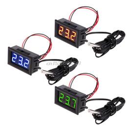 Termometro digitale di monitoraggio della temperatura LED 12V con sonda di temperatura -50 ~ 110 Celsius R09 Drop ship in Offerta
