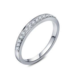 $enCountryForm.capitalKeyWord UK - 0.3CT Korean Fine Jewelry Semi Mount Fine Diamond Ring For Women 925 Engagement White Gold Cover Bridal Wedding Ring S923