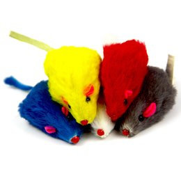 $enCountryForm.capitalKeyWord Australia - Rabbit hair Funny False Mouse Rat Toys Plush Mini Mouse for Cat Toys Pet Supplies Real Rabbit Fur Gravel Sounds Cute Toy