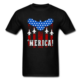Merica! T-shirt Uomo Vintage T Shirt Patriot Eagle Flag Tshirt America 4th of July Magliette Freedom Cotton Top Abbigliamento Hip Hop