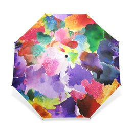 $enCountryForm.capitalKeyWord UK - 2018 Vintage Gorgeous Colorful Floral Pattern Umbrellas Women Rain Automatic Umbrella for Child Girl Gift Rain Gear Dropshipping