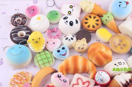 wholesale pull back toys Australia - Squishy Simulation Bread 10pcs Random Mix PU Cute Lovely Cartoon Pendant Kawaii Food Squishy Super Kid Toy Decompression Toys