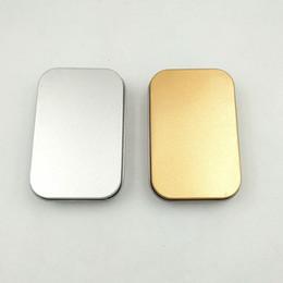 $enCountryForm.capitalKeyWord NZ - Tin Box Empty Silver gold Metal Storage Box Case Organizer For Money Coin Candy Keys U disk headphones gift box