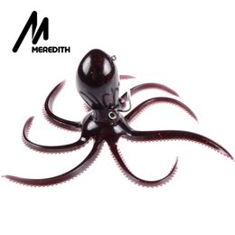 Retail Fishing Lures Australia - Meredith Fishing 180g 20cm Long Tail Soft Lead Octopus Fishing Lures Retail Artificial Bait High Quality 2017 Hot Selling