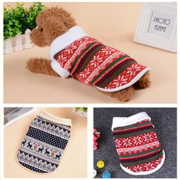 $enCountryForm.capitalKeyWord NZ - Dog Coat Clothes Winter Autumn Warm Christmas Clothing Cotton Outwears Small Dog Sweater Sweater Weaving Style Chihuahua Pet Outfits