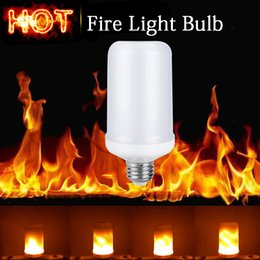 Discount flame light bulbs - E27 2835 SMD 7.5W LED Flame Effect Fire Light Bulbs Flickering Emulation Decorative Flame Lamps For Christmas Halloween