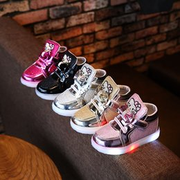 2018 Fashion European Winter fur cute baby boots Patch LED lighted cartoon  girls boys shoes ankle glitter baby glowing sneakers 3ad04bea5f1d