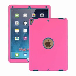 Ipad red leather skIn online shopping - Defender shockproof Robot Case military Extreme Heavy Duty silicone cover for ipad mini air inch pc