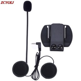 $enCountryForm.capitalKeyWord Australia - 2017 NEW 1 pcs lot, V6 Accessories Earphone Speaker & Clip Bracket only Suit for V6 V4 V2-500C BT Interphone 3.5mm Jack Plug
