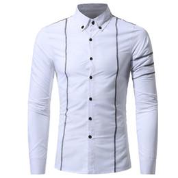 6d64b9994ca Striped Shirt Handsome Boy Casual Blusa Light Blue Cotton Tops Spring Wear Long  Sleeve Korean Slim Blusa 3XL Tide Men Shirts