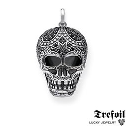 Jewelry girl skull online shopping - Maori Skull Pendants Fashion Jewelry Sterling Silver Blackened Ethnic Gift For Women Men Boy Girls Fit Necklace New