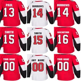 Factory Outlet Mens Womens Kids Ottawa Senators 13 Nick Paul 14 Alex  Burrows 15 Zack Smith 16 Clarke MacArthur Stitched Ice Hockey Jerseys 9ea903b35