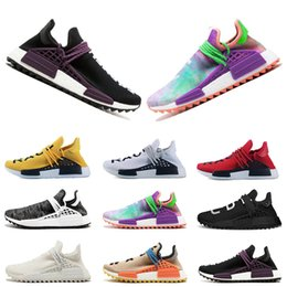 8436ddb63 2018 hot Human Race trail Running Shoes Mens Women Pharrell Williams Holi  Blank Canvas pale nude trainers sports sneakers size 36-45