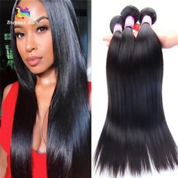 $enCountryForm.capitalKeyWord Australia - Natural Black 1B Unprocessed Virgin Human Hair Silky Straight Original Remy Hair Weave Bundles Free Shipping to uk us eu