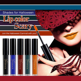 mixing red purple lipstick Australia - NICEFACE Dark Red Matte Lipstick Vampire Lipstick Black Purple Green Blue Batom Liquid Matte Lip Gloss Halloween Makeup Cosmetic