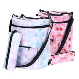 $enCountryForm.capitalKeyWord NZ - Printing Waterproof Drum Round Sling Bag Woolen Yarn Knitting Bag Tote For Children and Women 30*33cm
