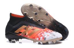 80d641e74 Original Predator 18+X Pogba 18.1 FG Soccer Shoes High Top Soccer Cleats  Mens Laceless Football Boots Outdoor 2018 Sapatos De Futebol Homens