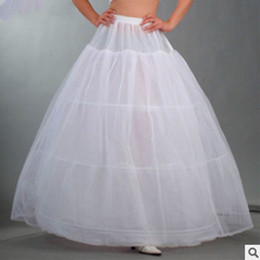 full hoop petticoat Canada - Wholesale-2015 New Underskirt Hot Sale 3 Hoop Ball Gown Bone Full Crinoline Petticoats for Wedding Dress Skirt Accessories Slip In Stock